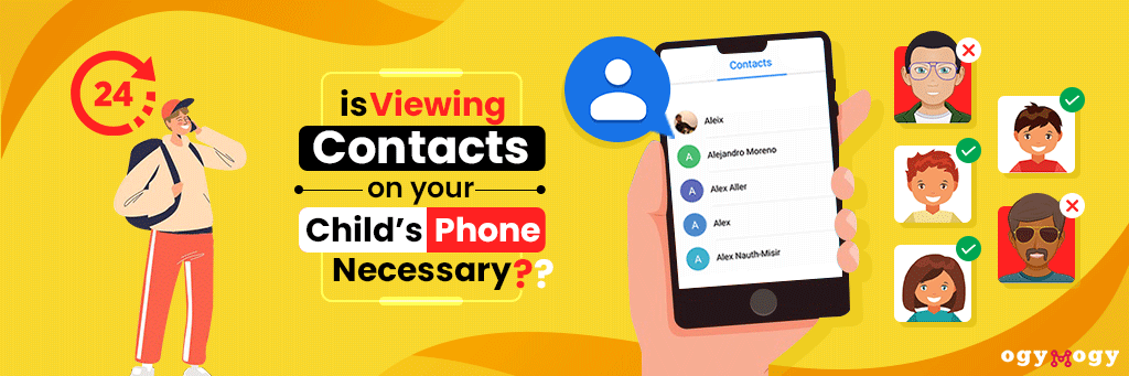 view contacts on your kids phone